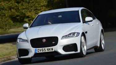 The XF is close to the 5 Series for driving enjoyment, with a choice of rear-wheel-drive or four-wheel-drive