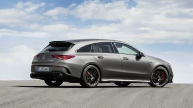 2019 Mercedes-AMG CLA 45 S Shooting Brake - rear 3/4 view