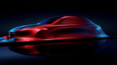 Mercedes' Aesthetic A sculpture points to the sleek lines of all new small Mercedes models