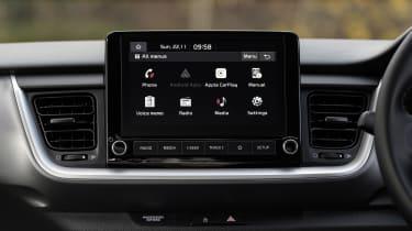 Kia Stonic SUV infotainment menu