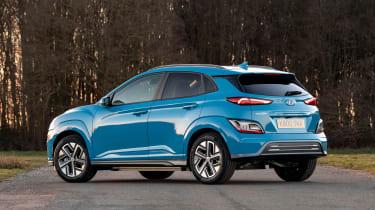 Hyundai Kona Electric SUV rear 3/4 static