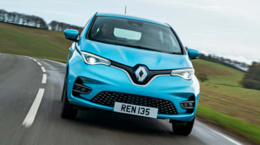 Renault ZOE old vs new front driving