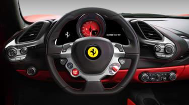 Ferrari 488 GTB steering wheel