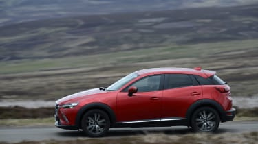 The CX-3 rivals such compact SUVs as the Renault Captur, Peugeot 2008 and Nissan Juke