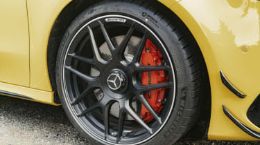 Mercedes-AMG A 45 S hatchback - front wheel close up