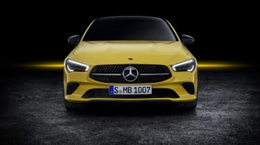2019 Mercedes CLA Shooting Brake - front close yellow