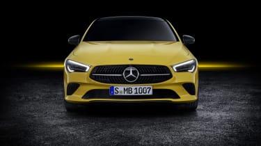 2019 Mercedes CLA Shooting Brake - front close yellow