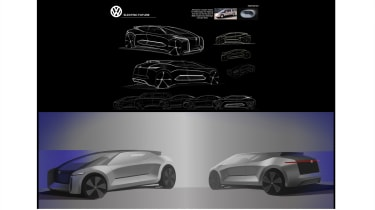Georgi Videnov – Georgi's proposal was for an I.D version of the Volkswagen Touran, taking cues from the ItalDesign Orbit concept.