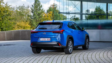 Lexus UX 300e SUV rear 3/4 static