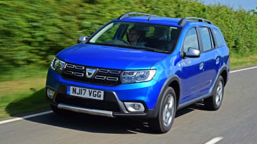 The Dacia Logan MCV Stepway is an estate car with SUV styling cues