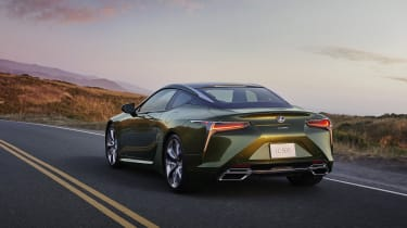 Lexus LC Limited Edition driving - rear view