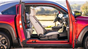 Mazda MX-30 SUV side doors open