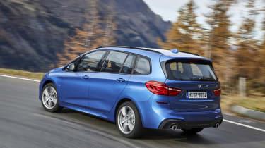 BMW 2 Series Gran Tourer cornering - rear view