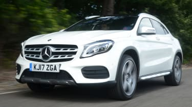 The Mercedes GLA was facelifted in 2017 to give it a chunkier appearance.