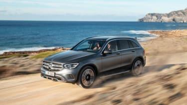 2019 Mercedes GLC SUV driving off-road