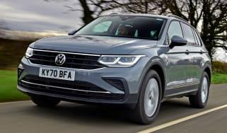 Volkswagen Tiguan SUV steering wheel
