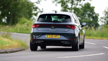 SEAT Leon hatchback - rear road driving