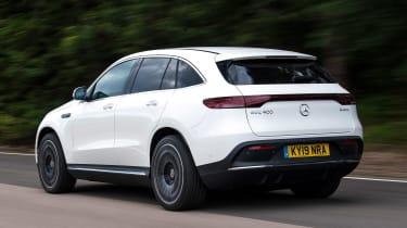 Mercedes EQC SUV rear 3/4 tracking