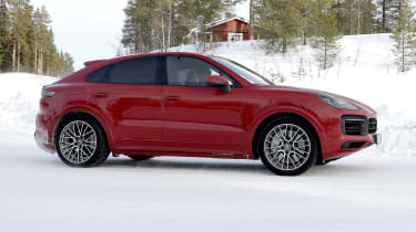 Porsche Cayenne Coupe GTS prototype - side view