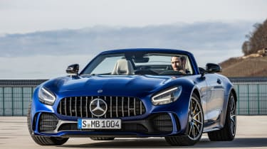 Mercedes-AMG GT R Roadster front roof down