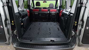 Fiat Doblo boot seats removed