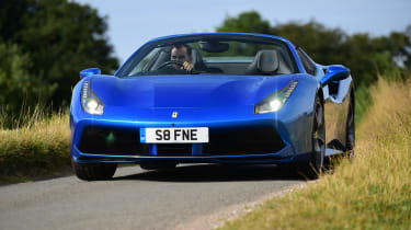 Ferrari 488 Spider convertible nose action