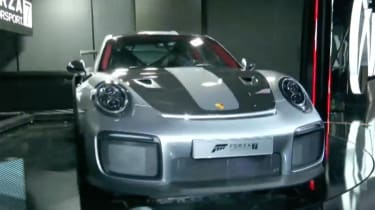 The Porsche 911 GT2 RS was a surprise star at the launch of Microsoft's Forza Motorsport racing game