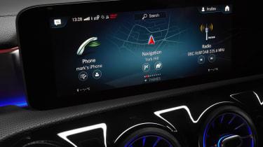 Mercedes CLA Shooting Brake infotainment screen