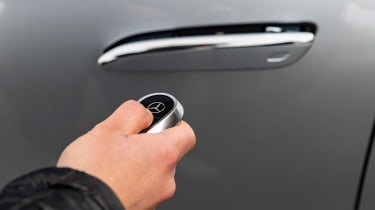 Mercedes S-Class saloon retractable door handles
