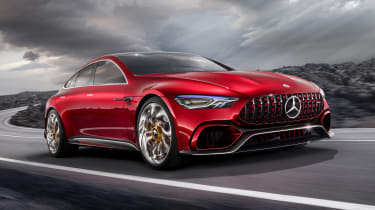 The Mercedes-AMG four-door will be another rival for the Porsche Panamera