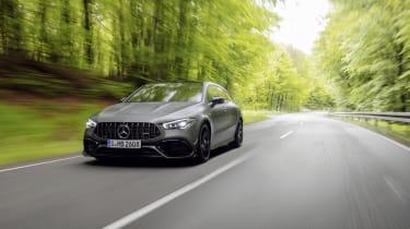 2019 Mercedes-AMG CLA 45 S Shooting Brake - dynamic wide angle driving shot