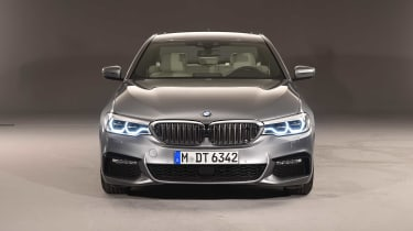 The front of the latest 5 Series has been sculpted for maximum efficiency, helping the 520d return around 70mpg