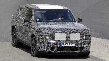 2022 BMW X8 SUV prototype - front view