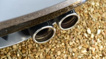 Jaguar F-Type coupe exhaust tailpipes