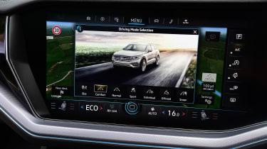 Volkswagen Touareg SUV infotainment display