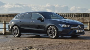 Mercedes CLA Shooting Brake parked