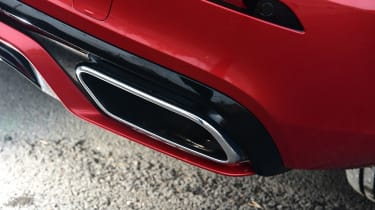 Volvo S60 saloon tailpipe