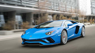 The Aventador takes its styling cues from the Reventon