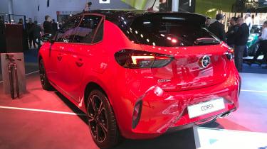 2019 Vauxhall Corsa - Rear static 3/4 view at Frankfurt
