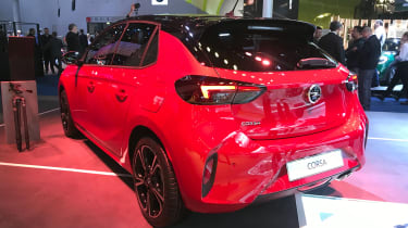 2019 Vauxhall Corsa - Rear static 3/4 view at Frankfurt