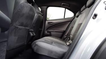 Lexus UX interior rear seats