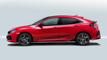 The five, readily visible doors of the Honda Civic hint at a greater degree of comfort inside