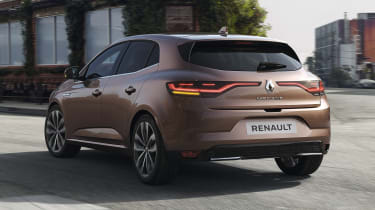2020 Renault Megane RS Line - dynamic rear 3/4 view