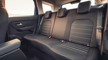 Dacia Duster SUV rear seats