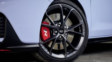 Facelifted Hyundai i30 N alloy wheel