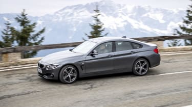 BMW 4 Series Gran Coupe side cornering