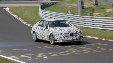 2021 Mercedes C-Class testing at the Nurburgring - front panning