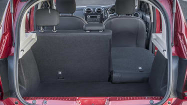 Dacia Sandero hatchback boot split seats