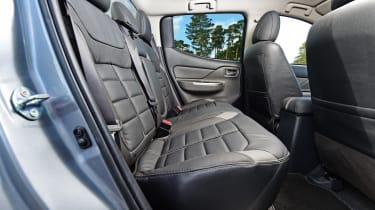 The L200 is only sold as a double-cab pickup, so all have seating for five