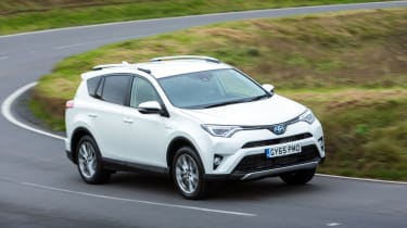 The petrol-electric hybrid RAV4 is the least satisfying to drive